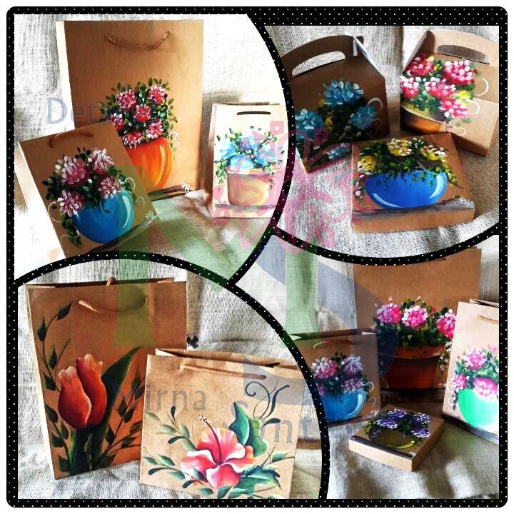 Pintados a mano bolsos de papel drawings pintar bolsas de papel y sobres de papel - Papel pintado a mano ...