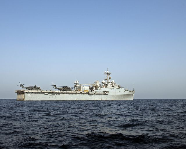 USS Ponce in the Arabian Gulf. by Official U.S. Navy Imagery, via Flickr