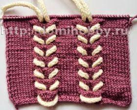 Puntos entrelazados en dos agujas | Crochet y Dos agujas - Patrones de tejido