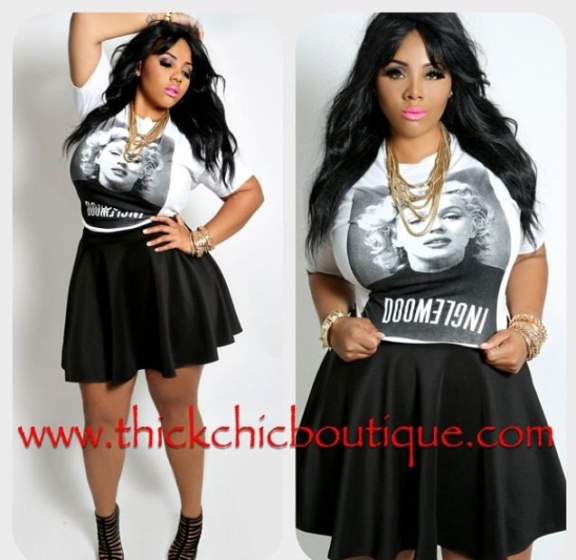 Curvy Plus Size Swag Cute Outfit