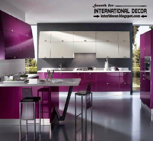 how to choose best kitchen colors 2015 modern purple kitchens designs - Violet Kitchen 2015