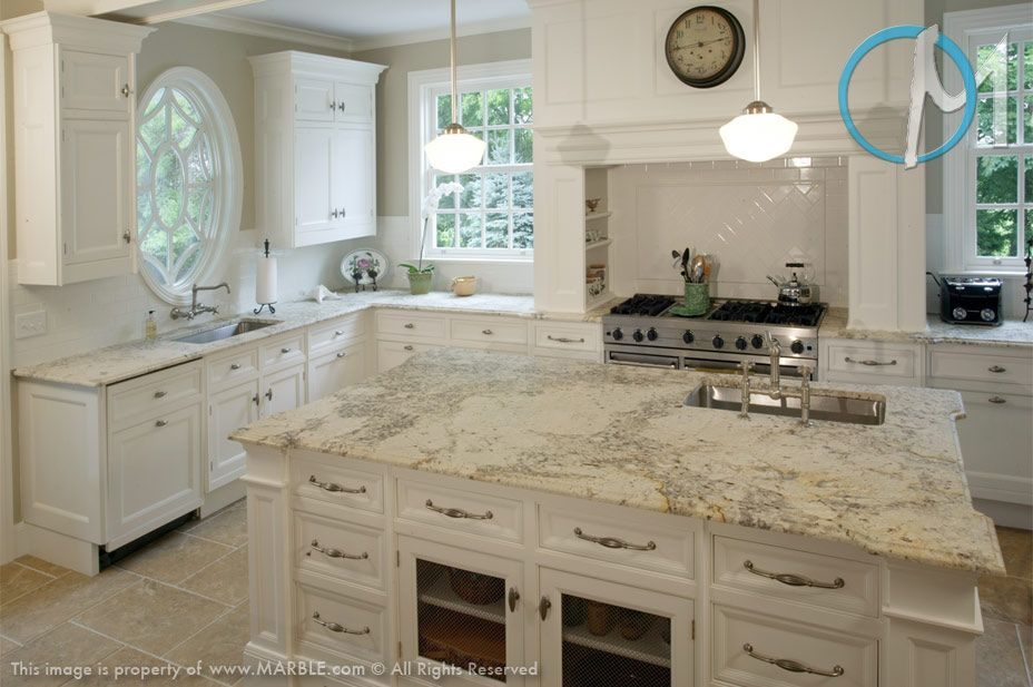Pics For Bianco Romano Granite White Cabinets