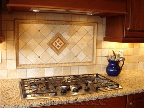 travertine kitchen backsplash ideas images of picture frame tile range top 6355
