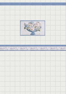 1//12 casa de muñecas blanco Metro Mosaico Pared Azulejos A3 DIY762A Tarjeta de brillo de la hoja