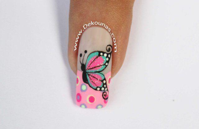 3 Diseños De Uñas De Mariposas Parte 1 Manicure And Pedicures