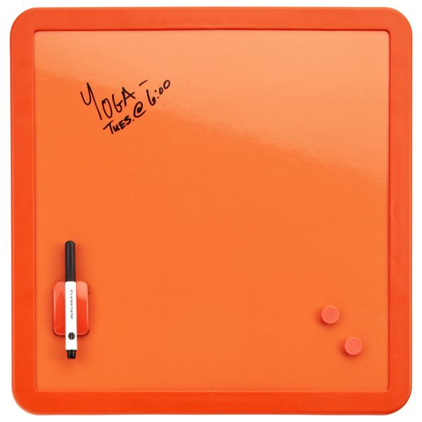 Our Magnetic Dry Erase Board is truly a bright idea! Not only can you write notes and make lists on its cheery surface, you can also attach photos or notes with magnets.