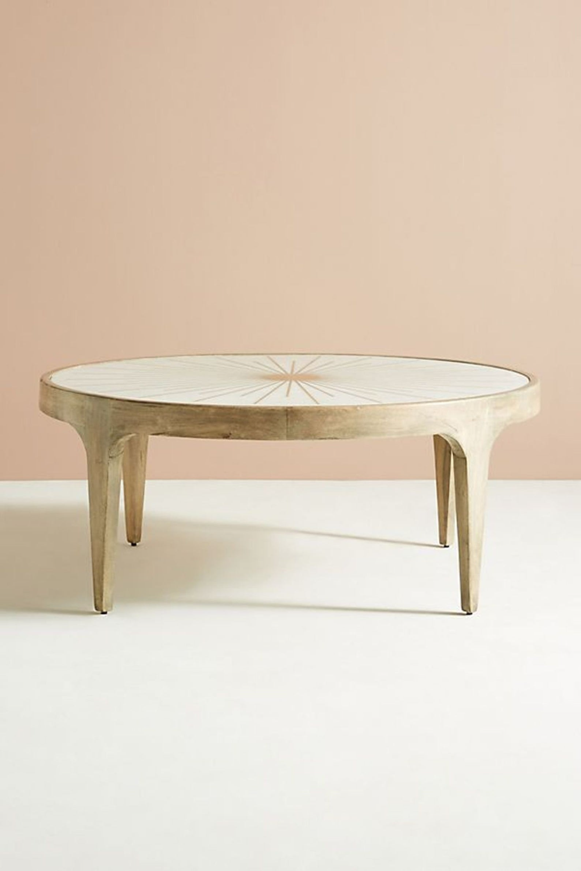 Sun Line Brass Design Round Coffee Table In Grey Color With Etsy Coffee Table Round Coffee Table Brass Coffee Table [ 1500 x 1000 Pixel ]