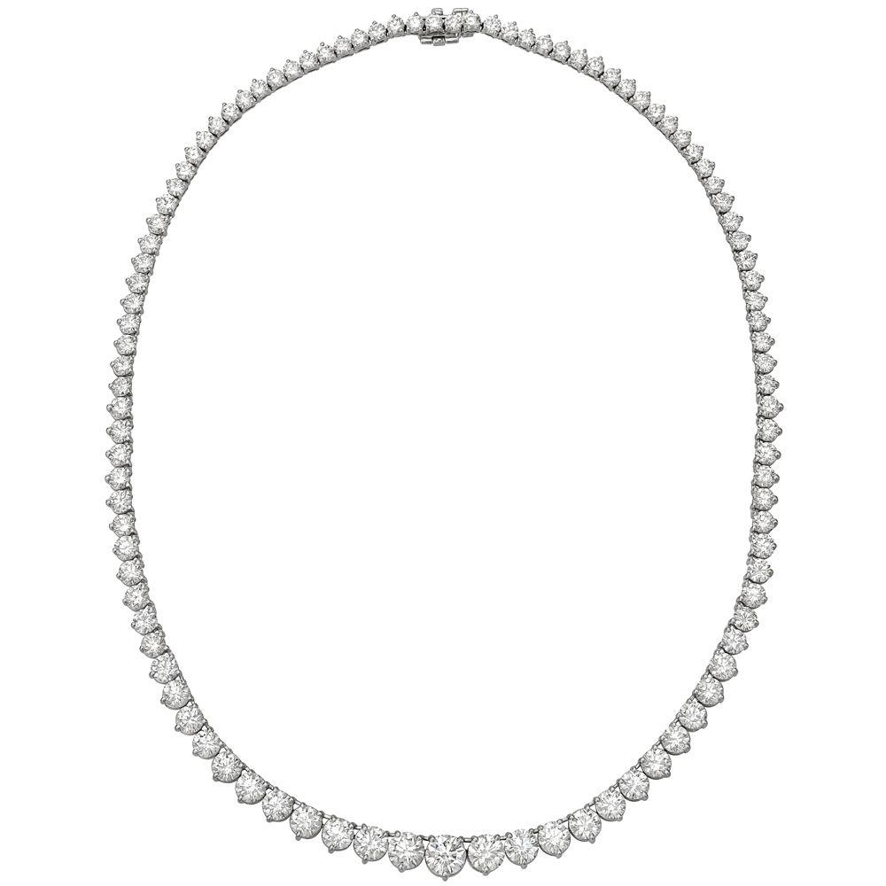 Estate+A.+Link+&+Co.+Round+Brilliant+Diamond+Line+Necklace+(~23.5+ct+tw)