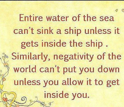Survivng the sea of negativity