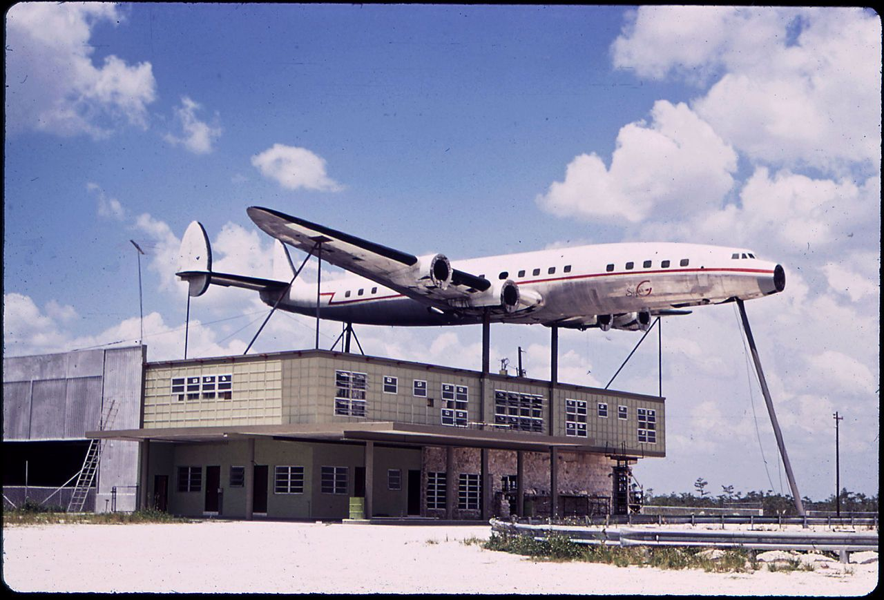 Abandoned Lockheed Super Constellation Display In The