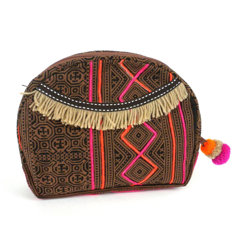 Hmong Batik Cosmetic Bag Earth - Global Groove (P)