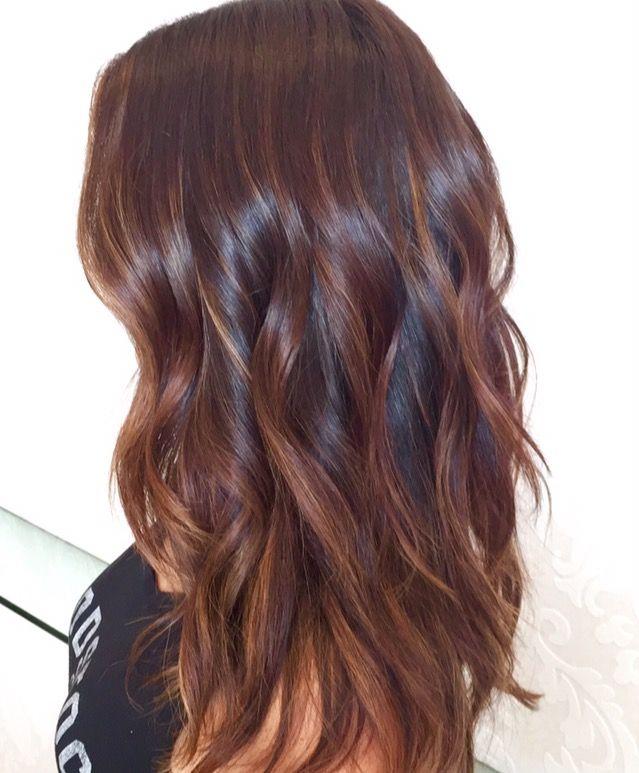 Warm Caramel Chocolate Balayage Balayage Hair Dark Peach Hair Balayage Hair