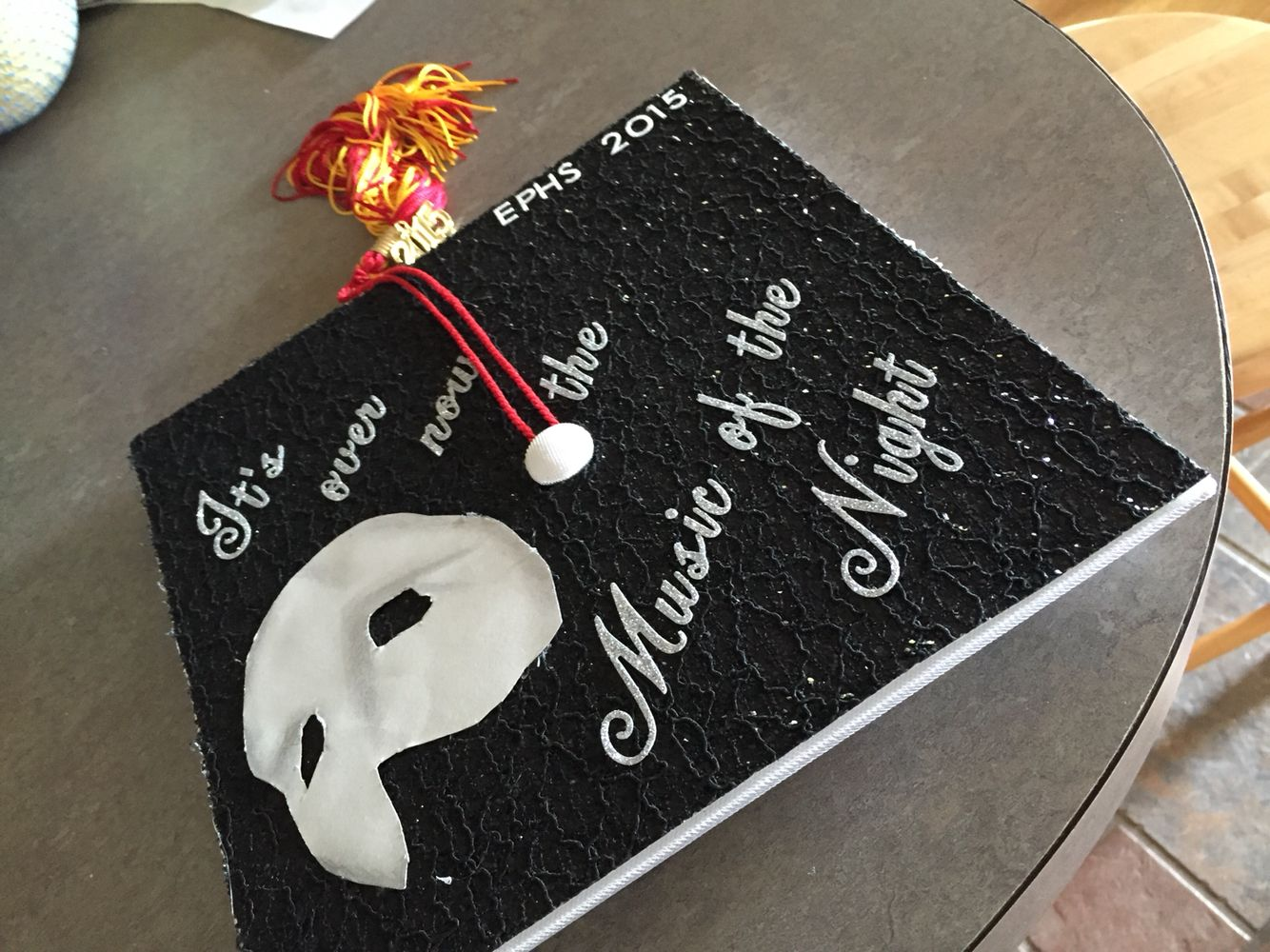 Decorating graduation cap ideas for teachers - Phantom Of The Opera Graduation Cap