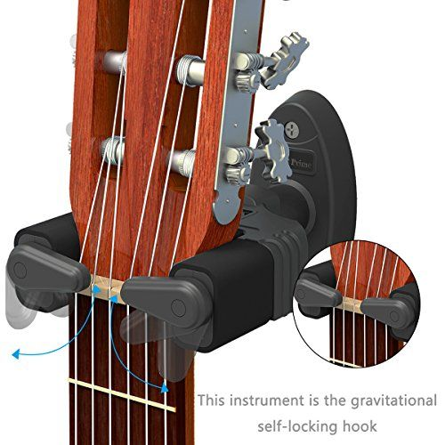 Guitar Hanger Auto Lock Rack Hook Holder Wall Mount Brack Https Www Amazon Ca Dp B01ge1qv9w Ref Cm Sw R Pi Dp Guitar Wall Guitar Hanger Guitar Wall Hanger