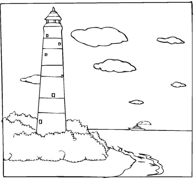 lighthouse  lighthouse coloring pages coloring pages