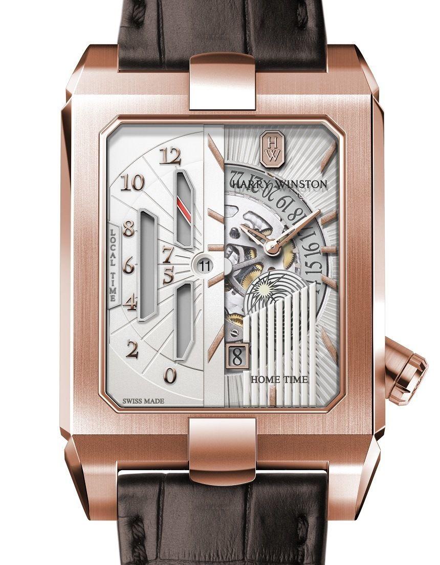 b2316503ae6 Harry Winston s Avenue Dual Time Automatic Is An Art Deco Masterpiece Tempo  De Revelação