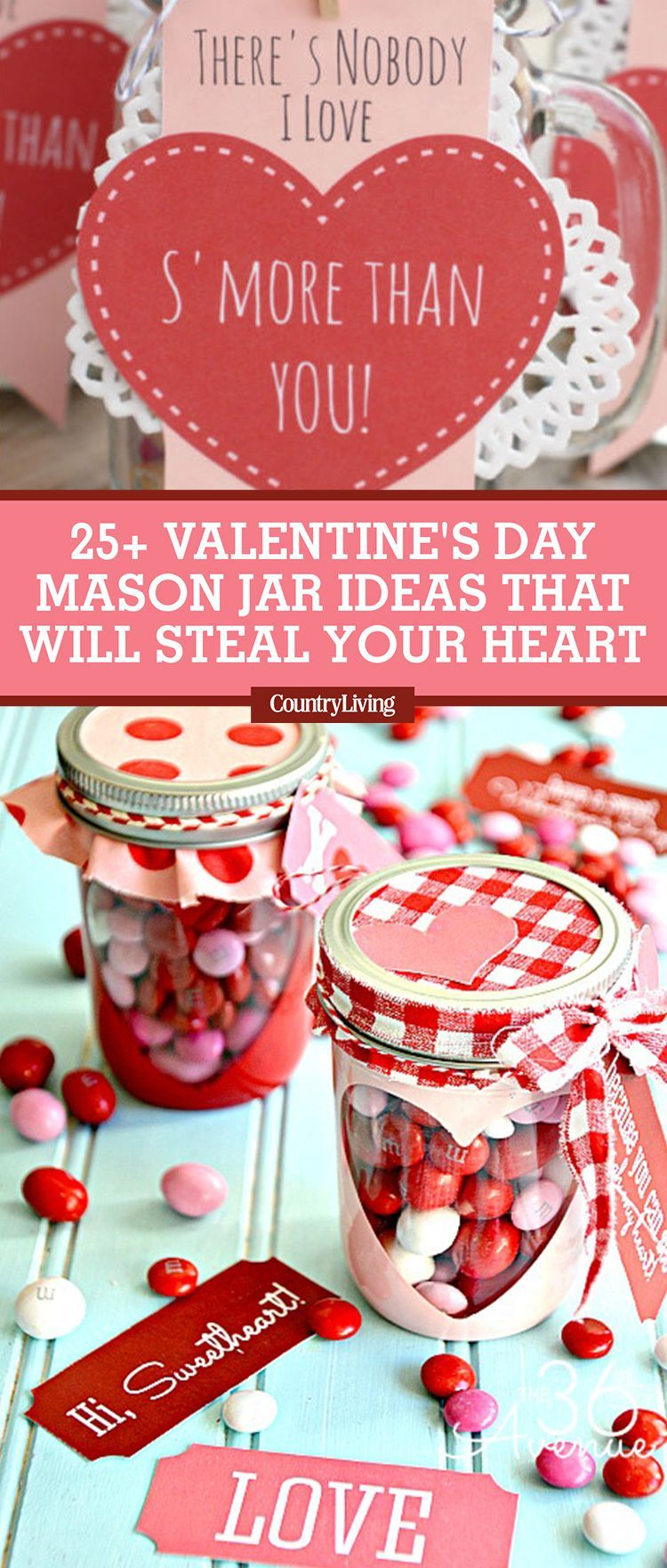25 Valentineu0027s Day Mason Jars That Will