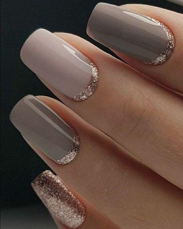 Simple But Elegant Mix And Match Nail Polish Ideas Gold Gel Nails Gold Nail Designs Neutral Wedding Nails