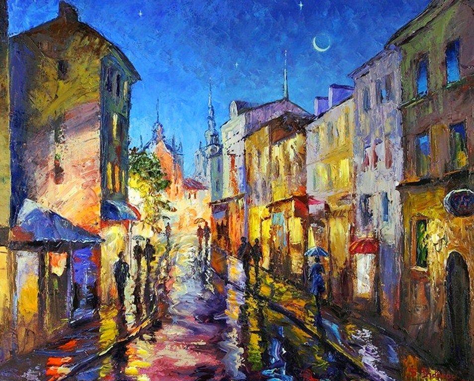 Llamativos colores componen ste hermoso cuadro pintado - Cuadros de meninas modernos ...