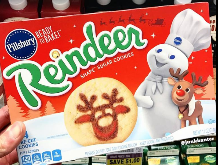 Pillsbury Reindeer Cookies Dairy Cookies Rolls Refrigerated