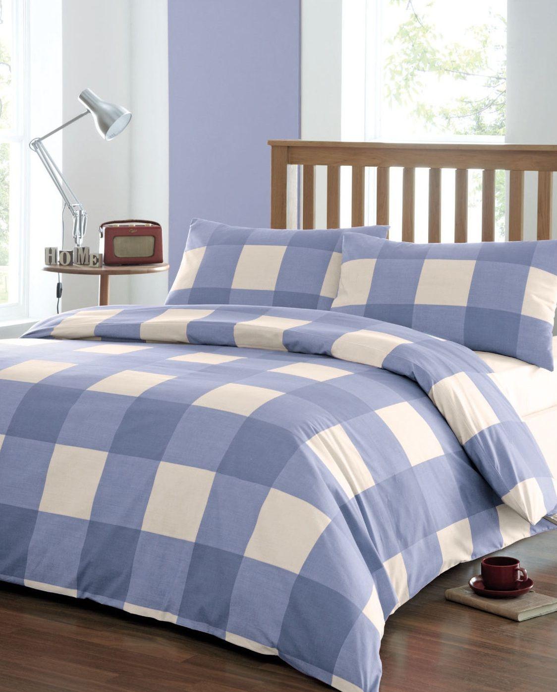 Bedding Sets Bold Blue Check