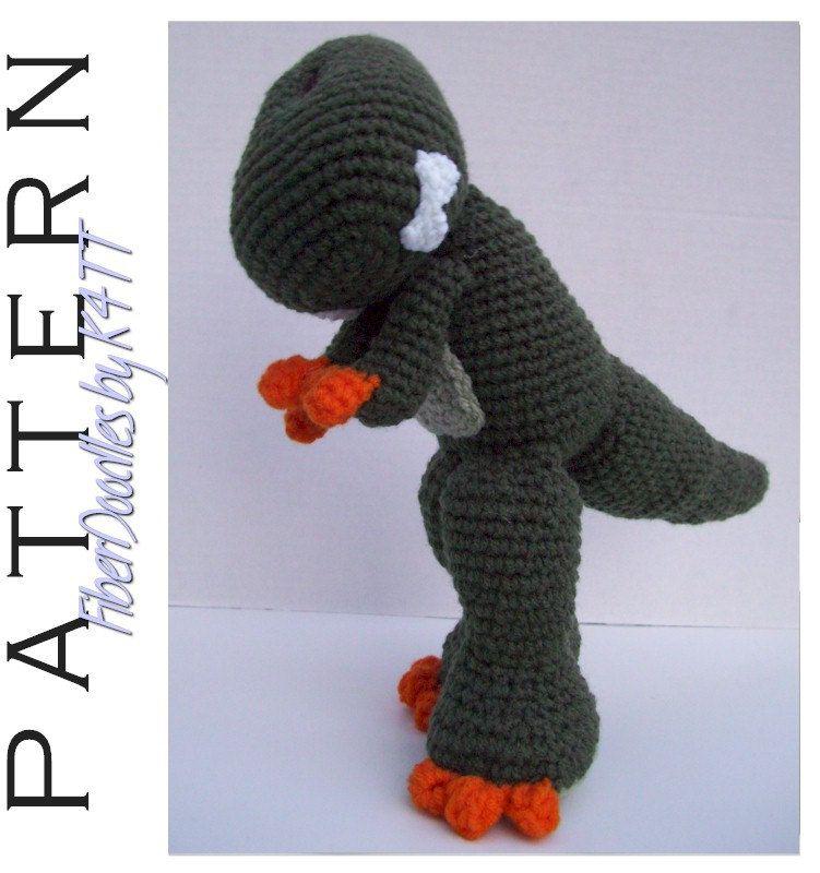 CROCHET PATTERN - KISS Series - Tyrannosaurus Rex.