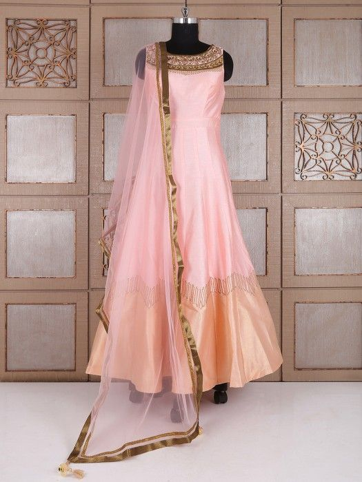 Shop Pink silk party lovely anarkali suit online from G3fashion ...