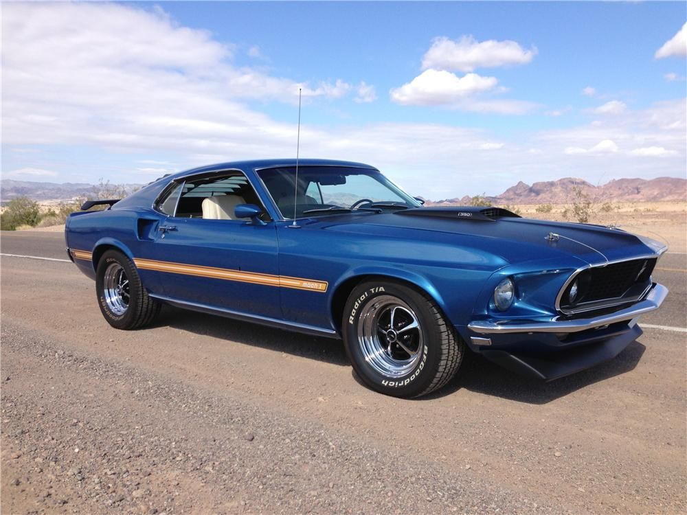 Beautiful Acapulco Blue 1969 Mach 1 S Code With Marti Report