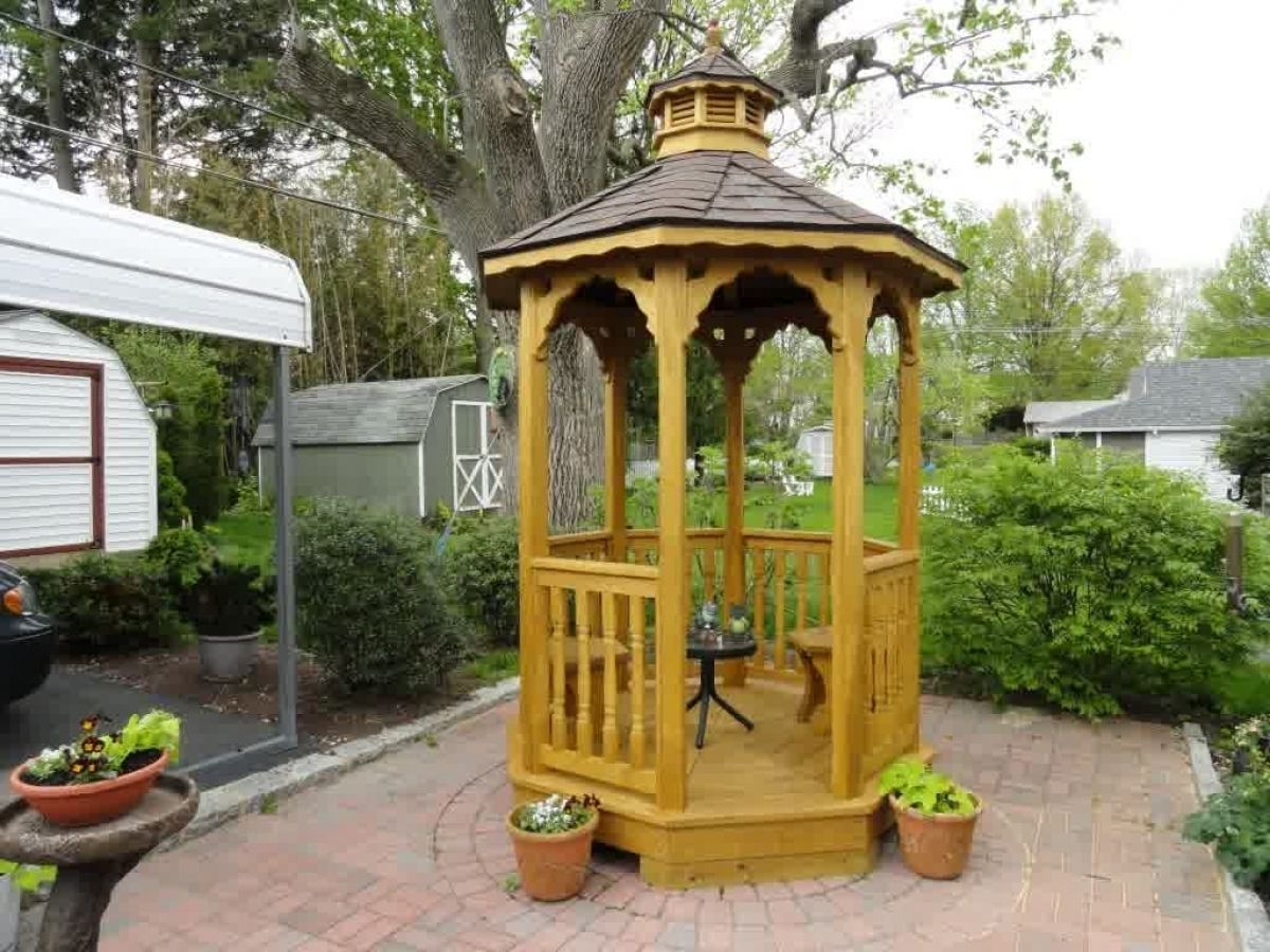13 Clever Initiatives Of How To Make Small Backyard Gazebo Ideas