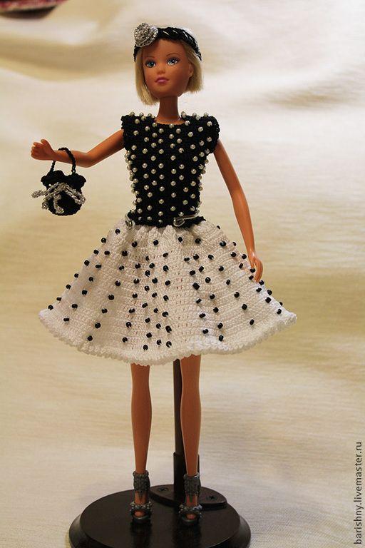 Одежда для кукол ручной работы. Ярмарка Мастеров - ручная работа. Купить Платье для Барби. Handmade. Платье для Барби, Вязание крючком