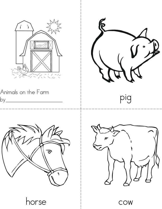 Farm Animals Book Kindergarten