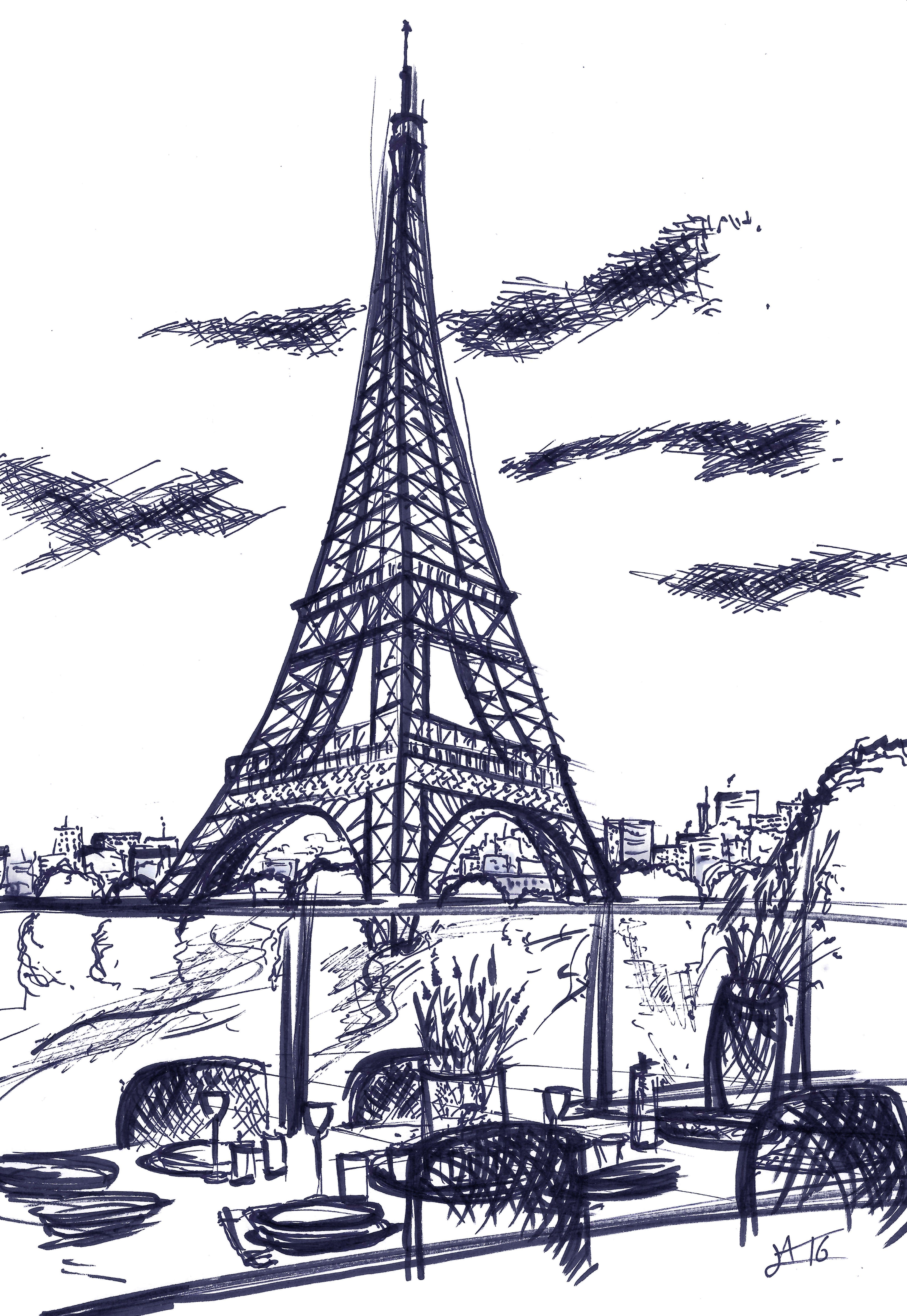 Dessin perspective croquis paysage artiste alexandre for Artiste dessin