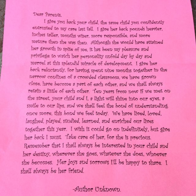 A beautiful letter from my daughters amazing kindergarten teacher a beautiful letter from my daughters amazing kindergarten teacher although she didnt write altavistaventures Images