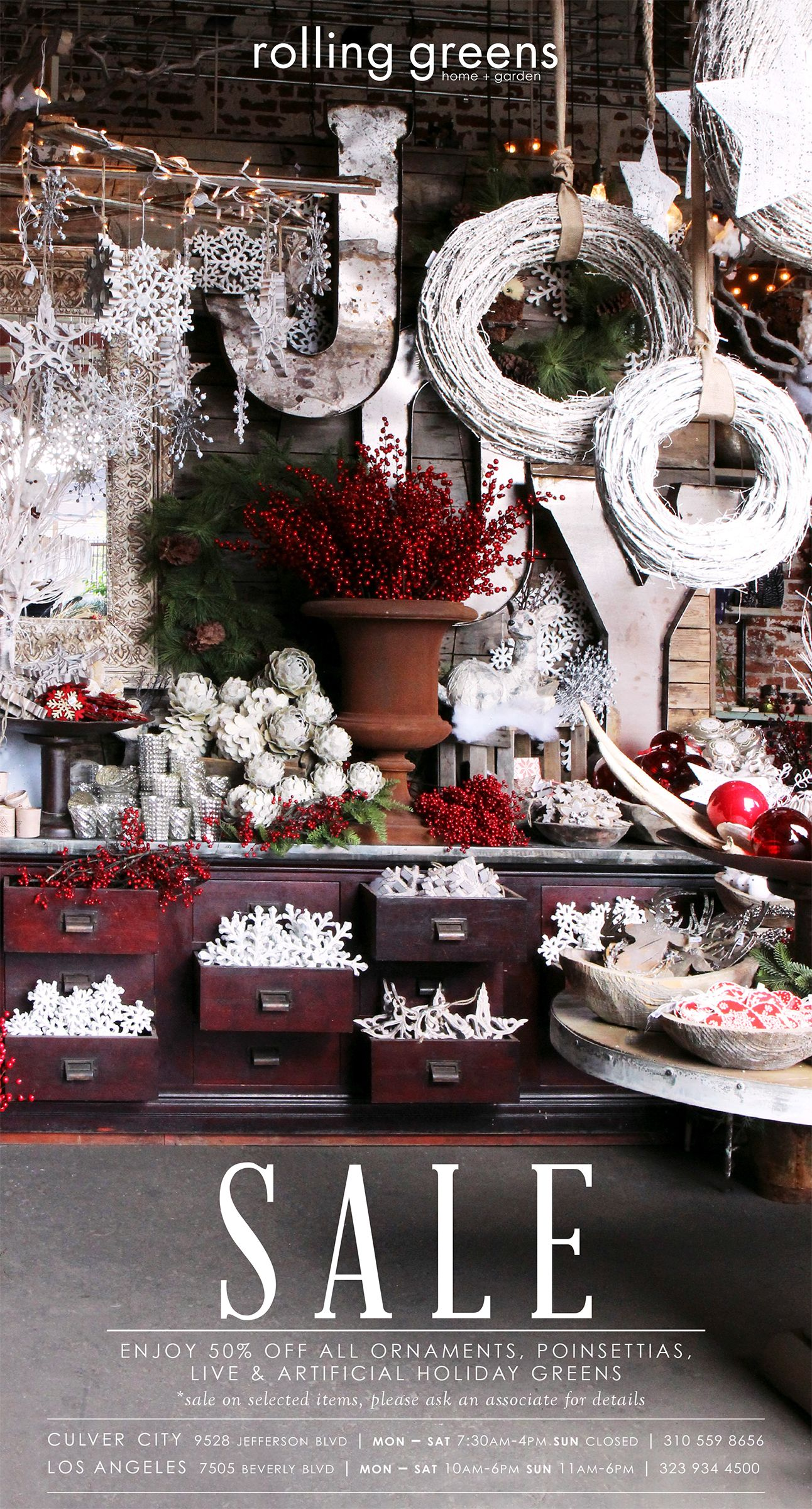 50% Off Holiday Greens and Seasonal Decor! | Rolling ...