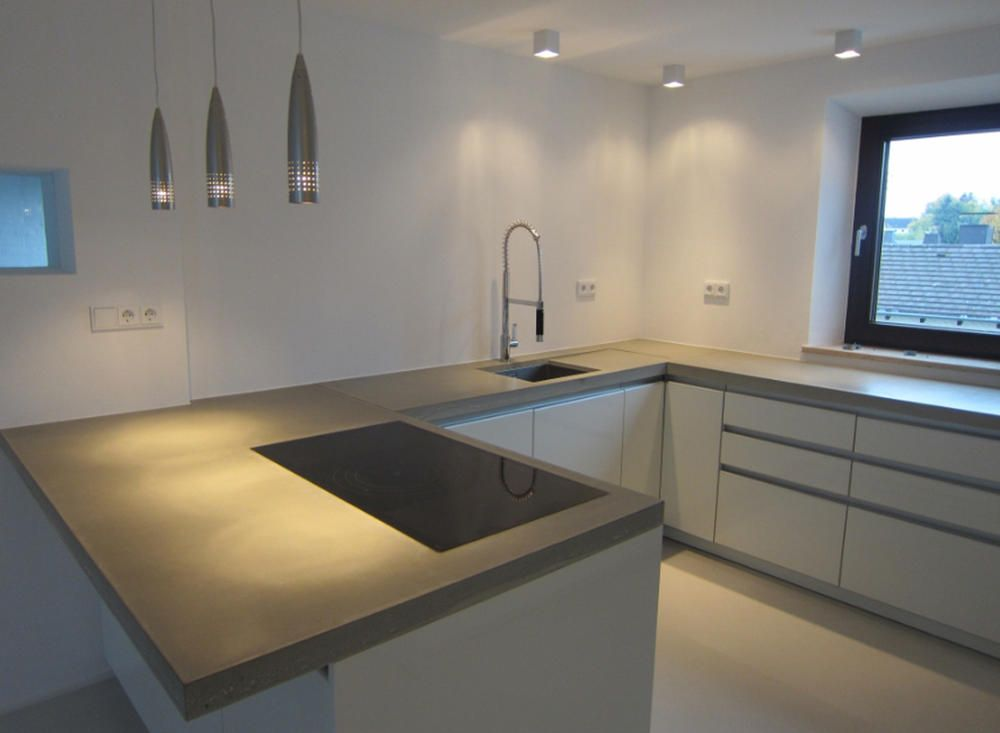 Beton Cire für Wände, Böden, Treppen, Arbeitsplatten Nice - küchenarbeitsplatten online kaufen