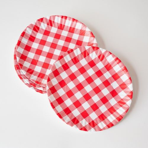 Red Gingham Melamine Plate  sc 1 st  Pinterest & Red Gingham Melamine Plate | Gingham | Pinterest | Red gingham and ...