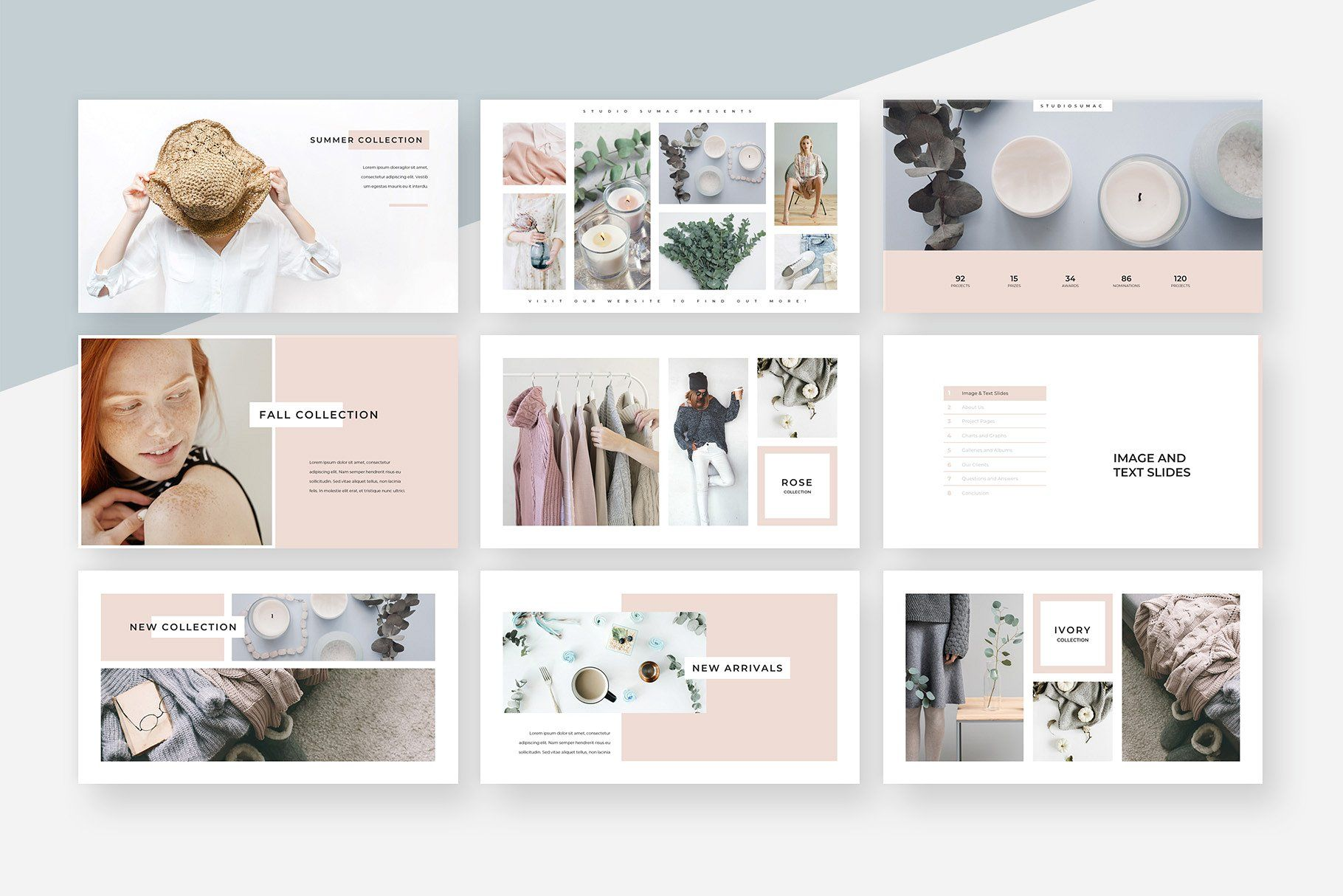 magnolia powerpoint presentation by studio sumac on  creativemarket  powerpoint  template