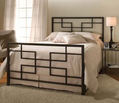 Hillsdale Terrace Bed Set with Rails - King - click to enlarge ...