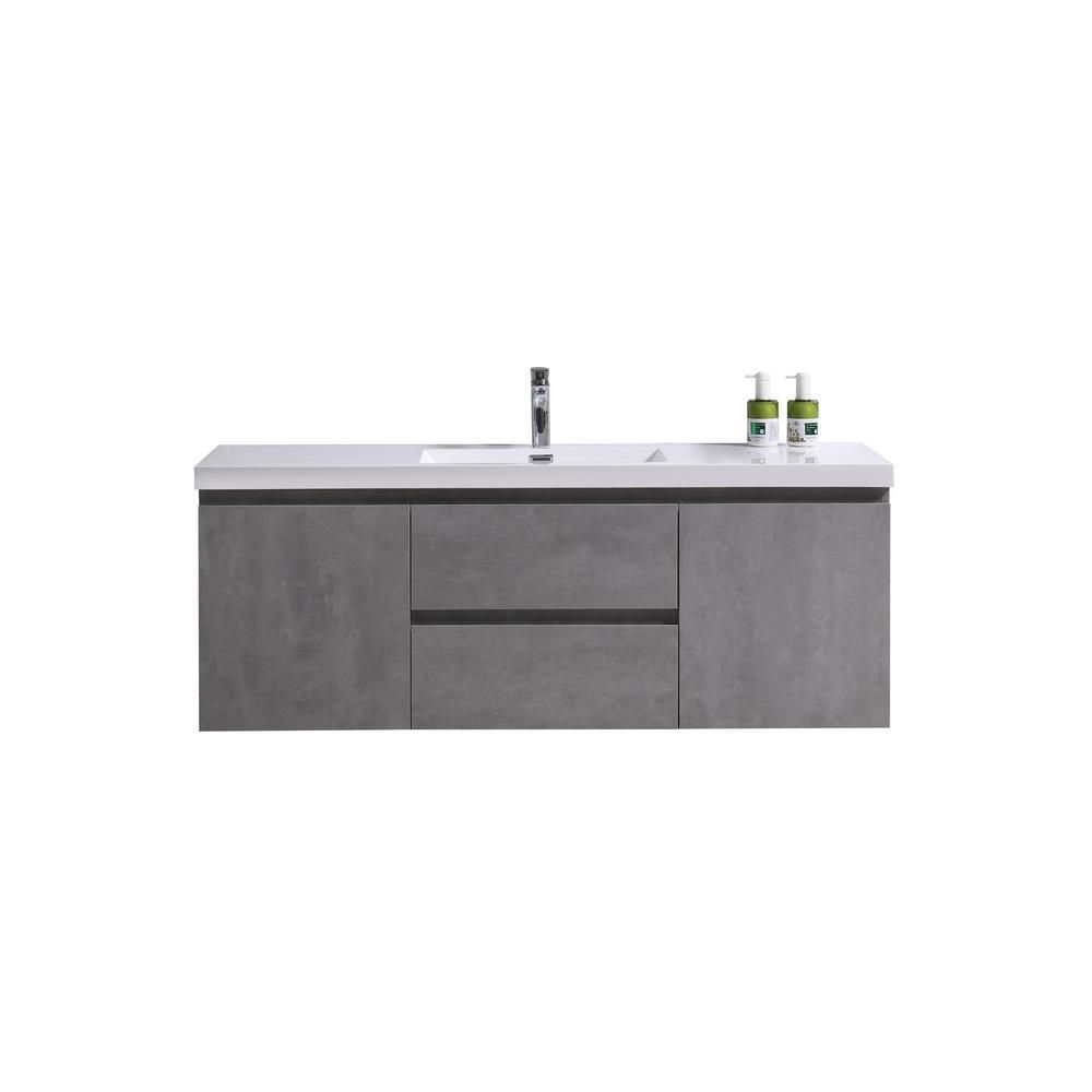 Moreno Bath Bohemia 60 In W Bath Vanity In Cement Gray With