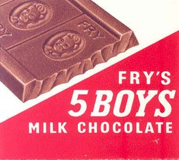 Five Boys Milk Chocolate From Cadbury Lunched In 1902 And