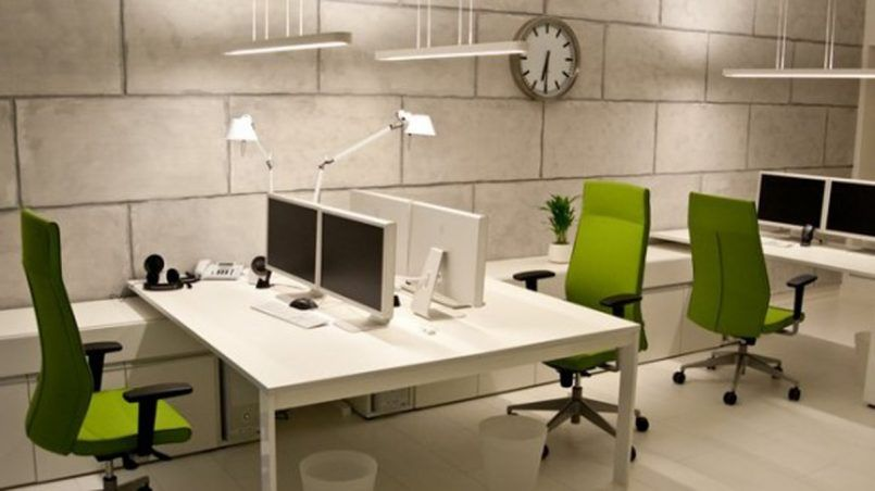 Office Small Office Designs With Square Table Also Arch Lamps Also - Small square office table