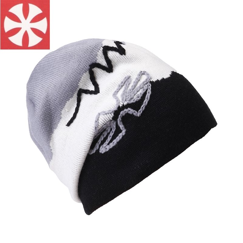 3f07027cc4c CaiZhongHai   B31 Wool Embroidery Thick Reversible Winter Hats For Women  Men Beanie Knit Hats Warm