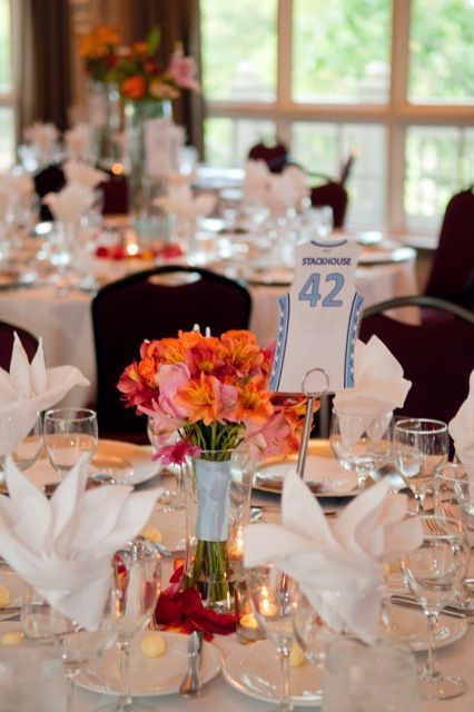 Carolina Basketball Themed Table Numbers Weddings Events