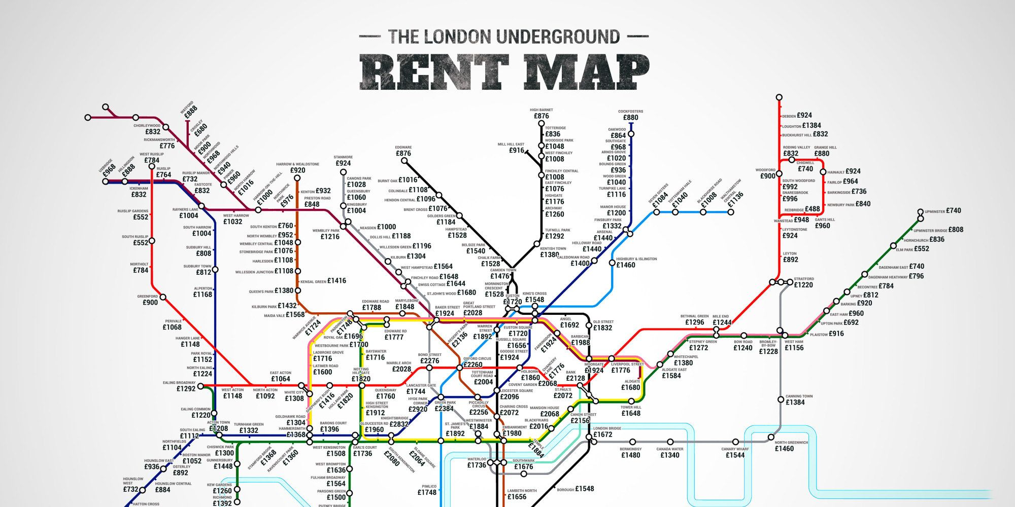 London Map Live.London Underground Rent Map Shows You Exactly Where You Can T Afford
