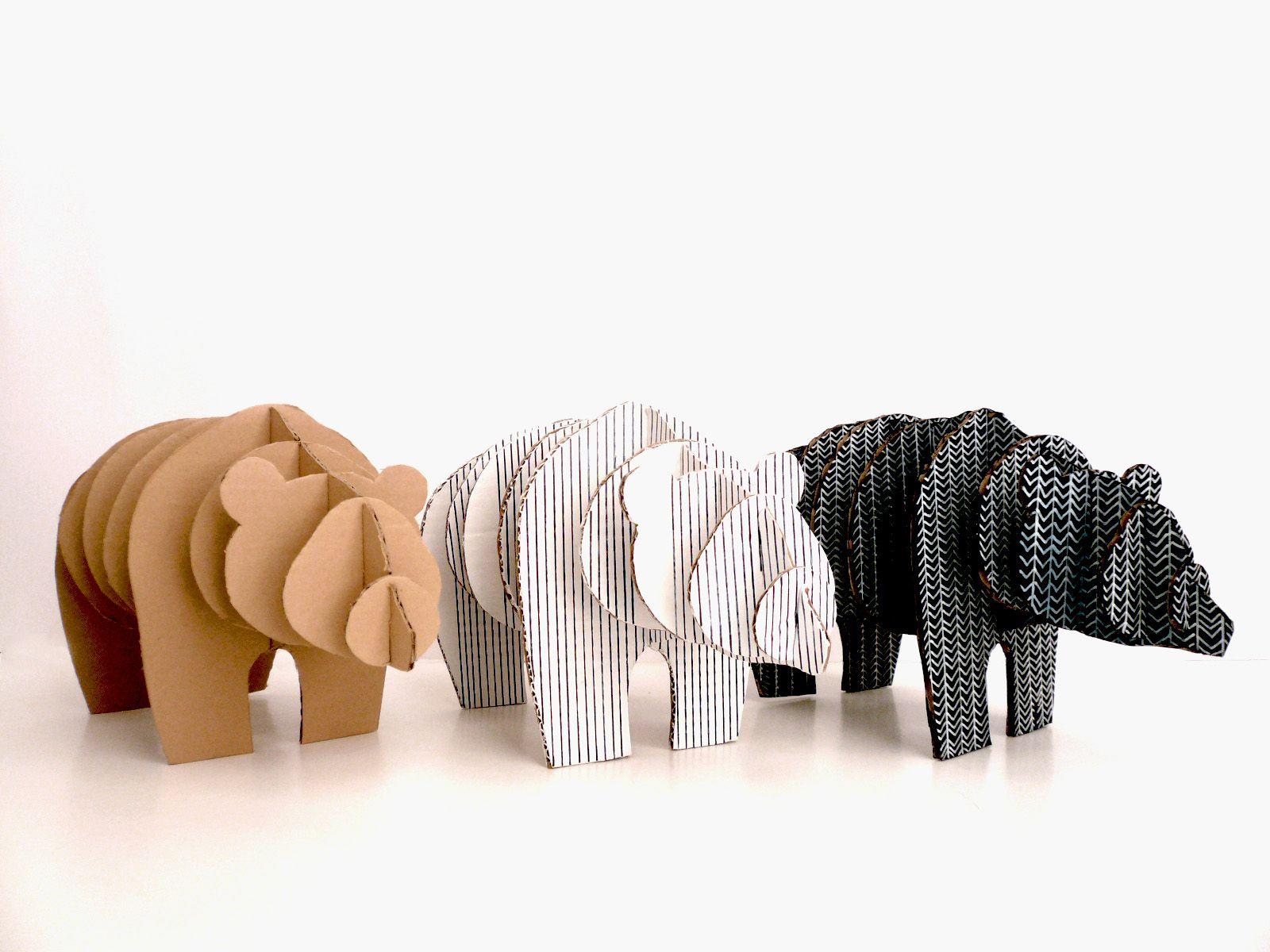 free cardboard taxidermy templates - diy bear cardboard bear diy bears pinterest bears