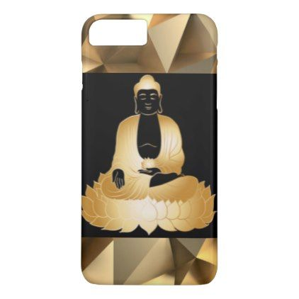 #flower - #Gold Buddha & Lotus Flowers Abstract Design iPhone 7 Plus Case