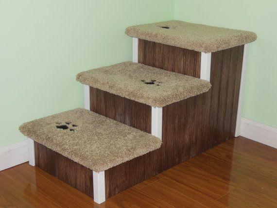 Dog Steps For Big Dogs Sturdy All Wood Dog Stair For Pets Etsy Dog Stairs Pet Steps Pet Stairs