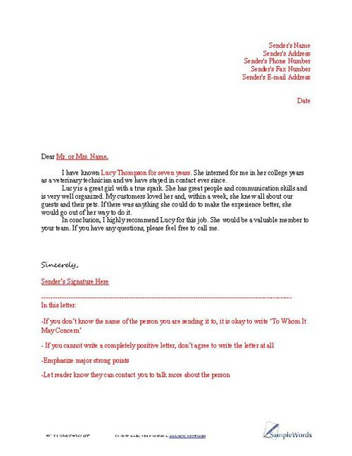 reference letter for employee - Google 搜索 fashion resume - sample job recommendation letter