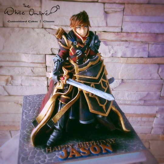 Elven Warrior 3D Cake