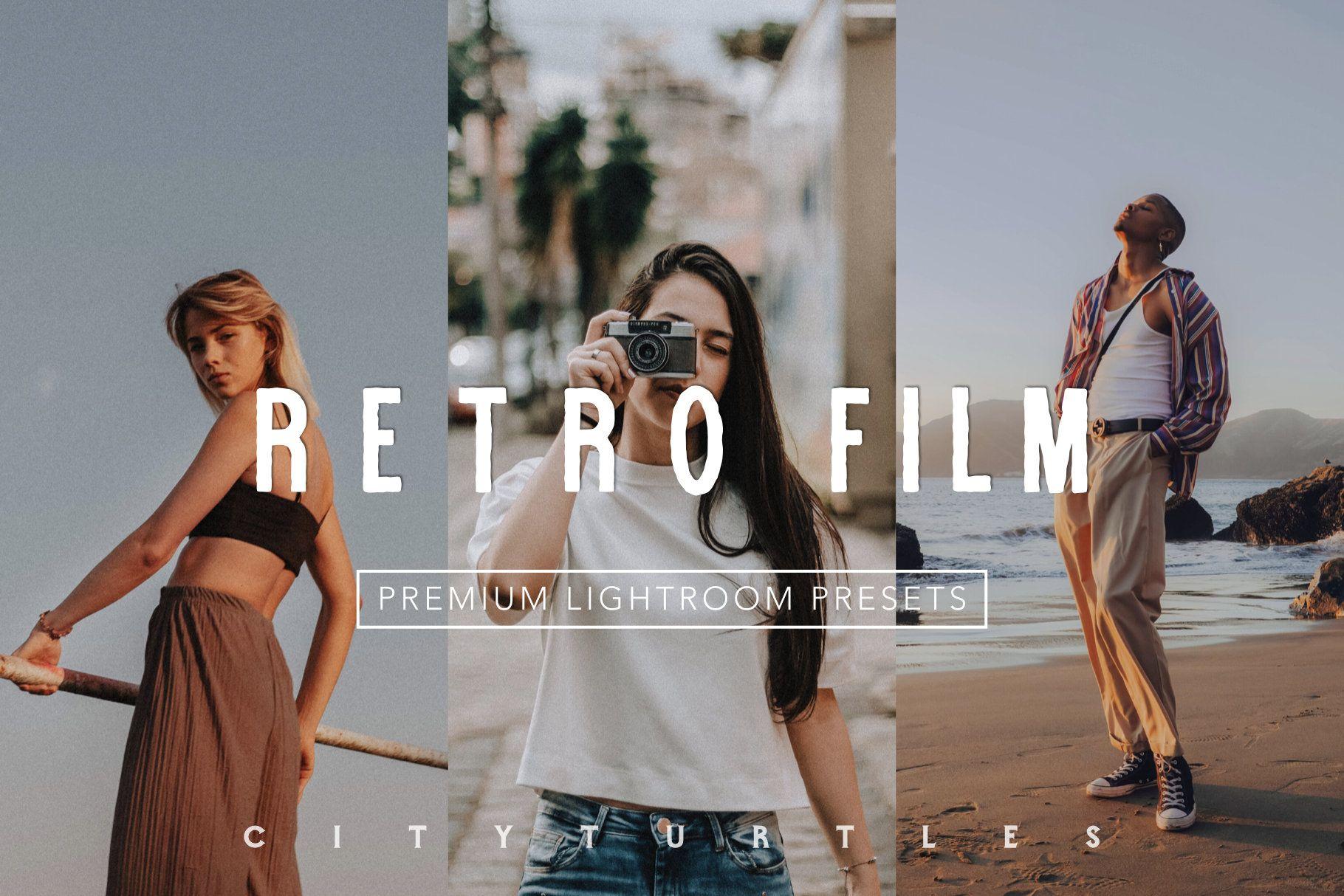 Moody Retro Film Color Lightroom Presets For Desktop Mobile One Click Photographer Editing Tools In 2020 Film Presets Lightroom Retro Film Film Presets
